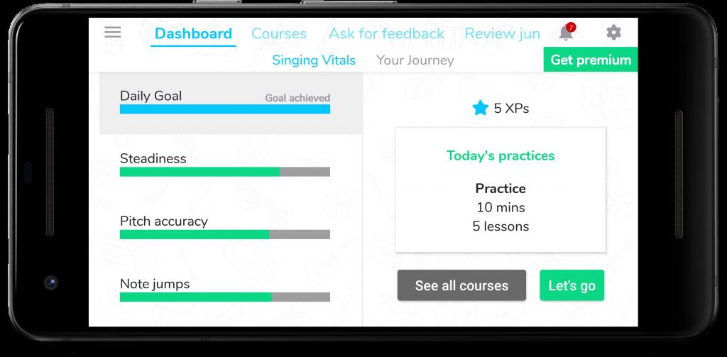 Personalised practice plan, everyday!