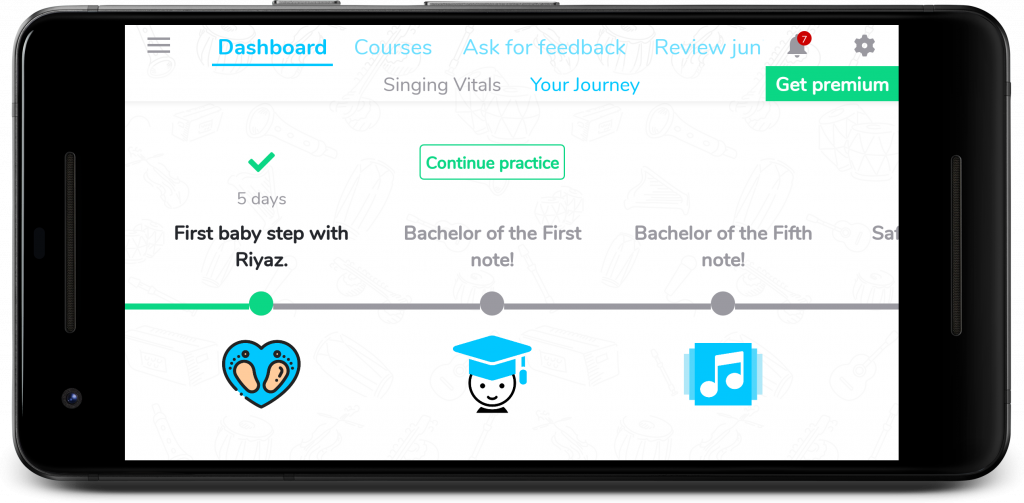 Track your journey with fun milestones!